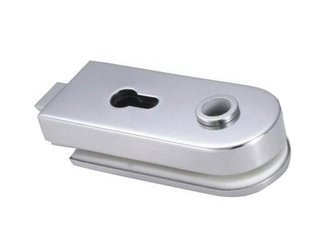 Glass Door Single-Action Lock  prepared for Standard Cylinder and Handle