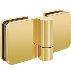 180/135 Glass Shower Lifting Hinge  (hidden screws)/Brass Polish
