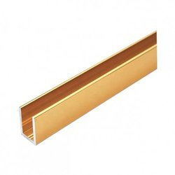 Brass Polish U Channel for Glass Shower / L=250 cm