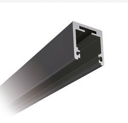 Fixed Panel 38x34 Black Profile with Seals for 10-10,76 and 12-12,76 mm Glass - Top Mounting