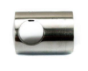Flat Back Crossbar Holder for Ø16 pipe// AISI 304/ SATIN