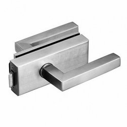 Glass Door Lock with Handle and Cylinder /Satin