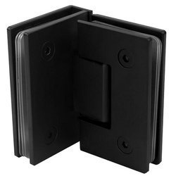 Loft Shower Door Hinge (90°glass-glass)  / Black anodized