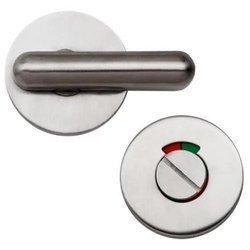 Turn and Indicator Door Lock / Satin