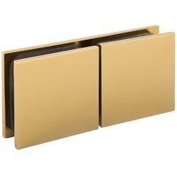 W2G Brass Polish Glass Shower Bracket