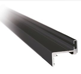 Z type Black Profile Set for Glass Door Frame, H=2510 mm