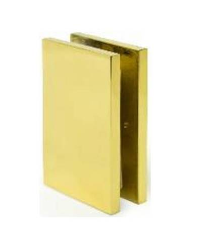 72mm Glass Shower Wall Bracket (Wall-to-Glass)/Brass Polish