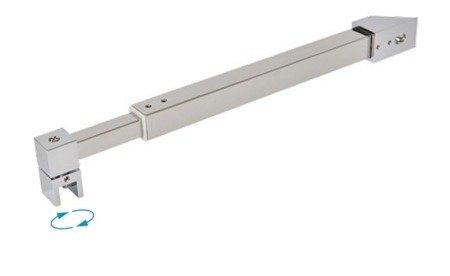 15 mm Square Support Bar Kit / Satin, Polished Chrome