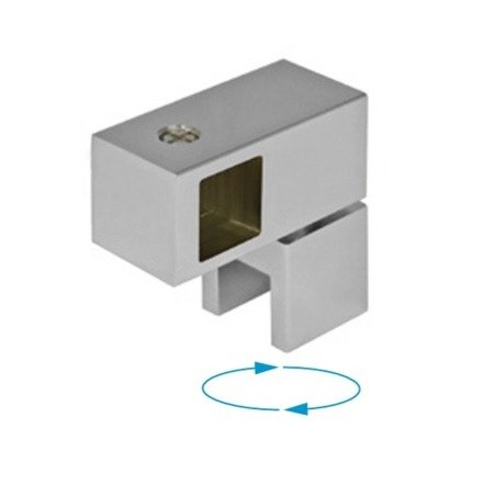 15x15 Sqare Movable Support (Glass-to-Bar) / Satin, Polish