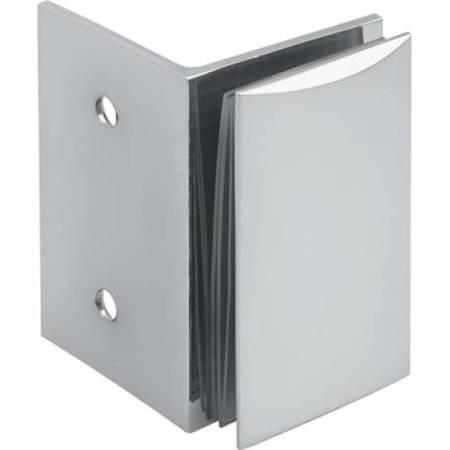 70x52 Shower Fixed Panel Clamp / Polish