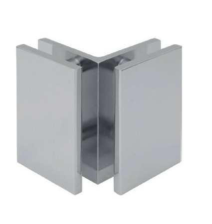 90° 72mm Glass Shower Clamp (Glass-to-Glass)