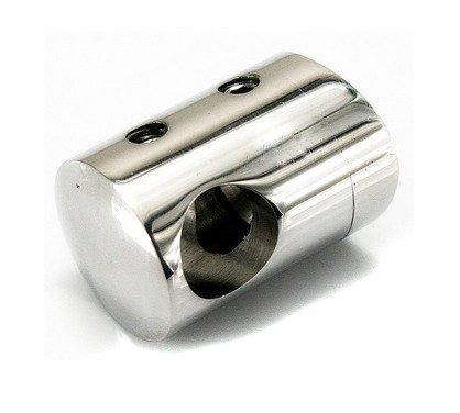 Curved Back Crossbar Holder for Ø8 pipe / Ø33,7 mm/  POLISH