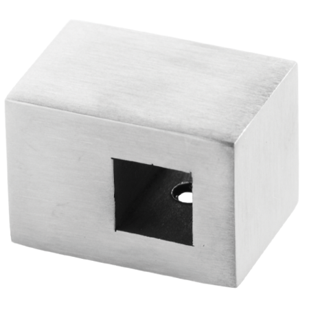 Flat Back Crossbar Holder for 12x12 mm Profile / SATIN