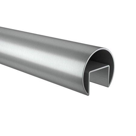 Glass Balustrade Round Handrail,  Ø50,0 x 2,0 mm, L - 2,95 m, anodized aluminium