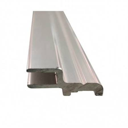 H Type Wall Channel for Shower Glass Door Magnetic Seal / Chrome Polish