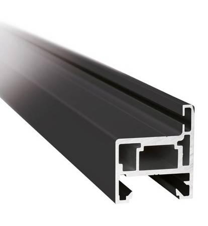 H type Black Profile Set for Glass Door Frame, H=2300 mm / Satin, Silver