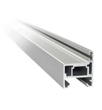 H type Profile Set for Glass Door Frame, H=2510 mm / Satin, Silver