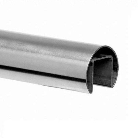 Ø 42,4 mm Round  Glass Balustrade  Handrail,  L - 5 m, satin