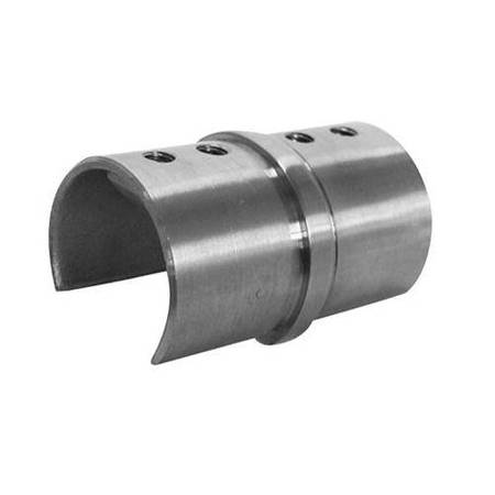 Straight Connector for Ø 42 mm Round  Glass Balustrade  Handrail PBO-02